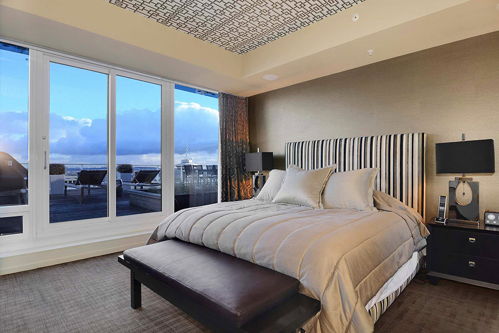 Bedroom And Details Luxury Penthouse in Vancouver With Stunning Panoramic Views Worth $21,000,000
